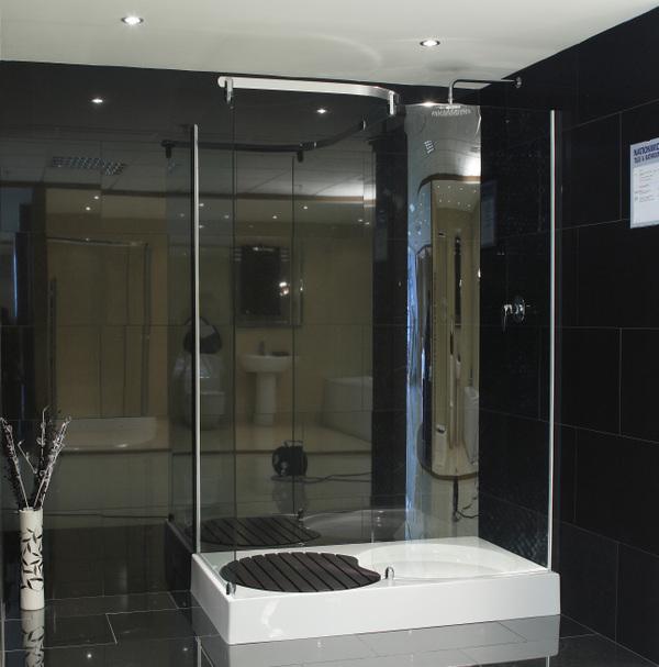 Bathroom Black Granite Floor : Black granite floor bathroom pictures
